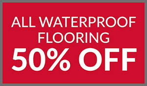 50% off all waterproof flooring this month at Ted's Abbey Carpet & Floor in Anniston!